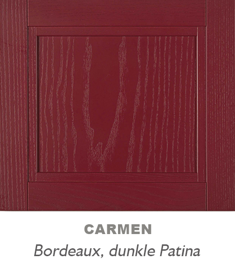 moderne landhausküche rot