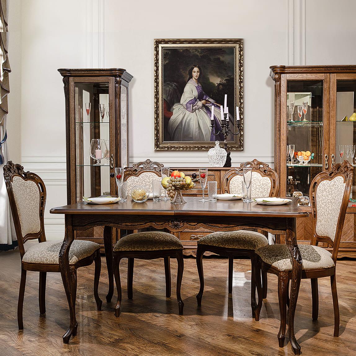 esszimmermöbel eiche ausziehbarer tisch mit stühlen essgruppe barock
