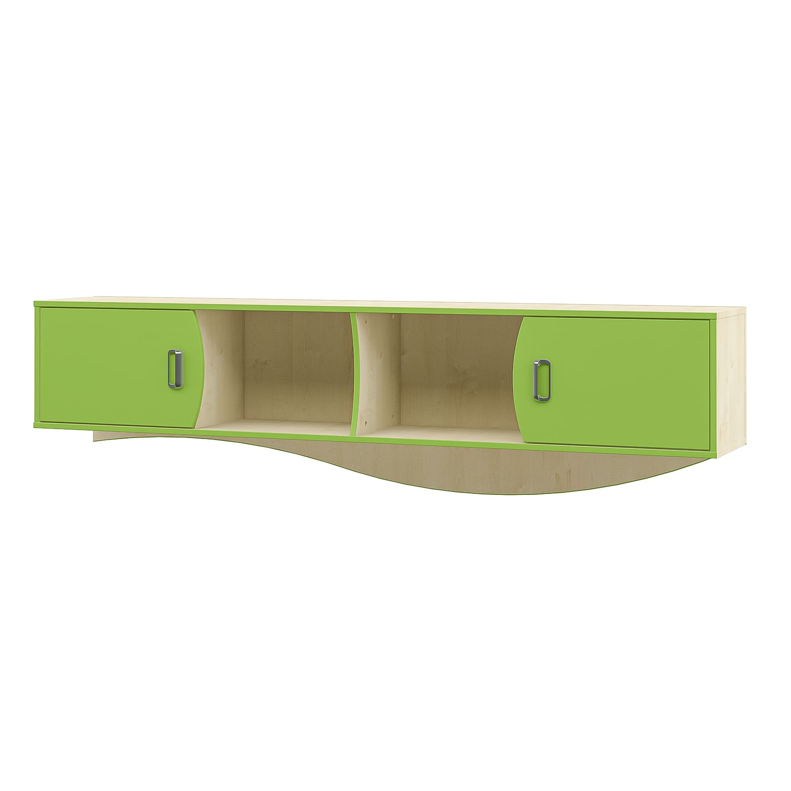 ROBIN Kinderzimmer Hängeschrank mit Regalen, Grün / Beige-0