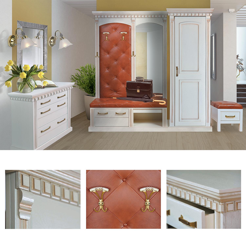 garderobe weiß landhaus garderobenschrank flurmöbel kompaktgarderobe
